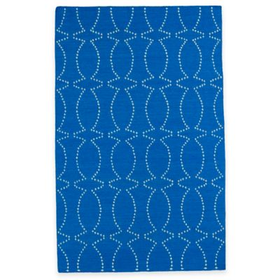 Kaleen Glam Pin Dot 3-Foot 6-Inch x 5-Foot 6-Inch Are Rug in Blue