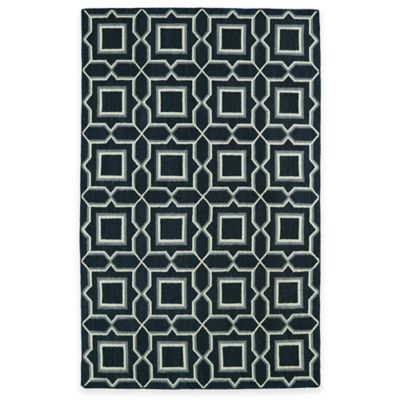 Kaleen Glam Tiles 5-Foot x 8-Foot Area Rug in Charcoal