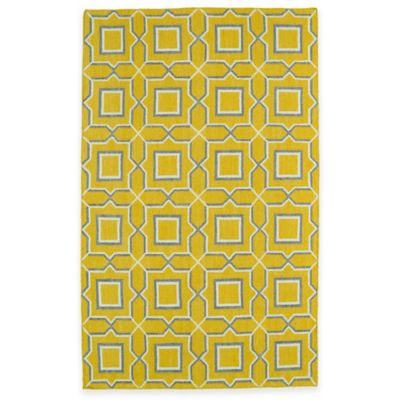 Kaleen Glam Tiles 5-Foot x 8-Foot Area Rug in Yellow