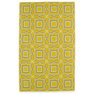 Kaleen Glam Tiles 8-Foot x 10-Foot Area Rug in Yellow