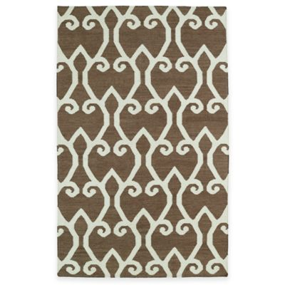 Kaleen Glam Fret 5-Foot x 8-Foot Area Rug in Brown