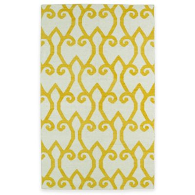 Kaleen Glam Fret 8-Foot x 10-Foot Area Rug in Yellow