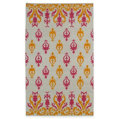 Kaleen Glam Damask 3-Foot 6-Inch x 5-Foot 6-Inch Area Rug in Light Brown