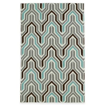 Kaleen Glam Deco 2-Foot x 3-Foot Accent Rug in Grey