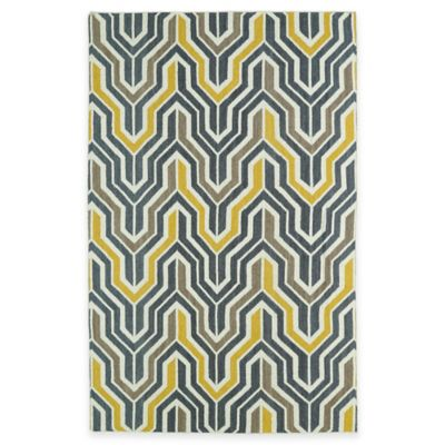 Kaleen Glam Deco 2-Foot x 3-Foot Accent Rug in Yellow