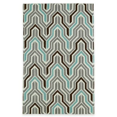 Kaleen Glam Deco 5-Foot x 8-Foot Area Rug in Yellow