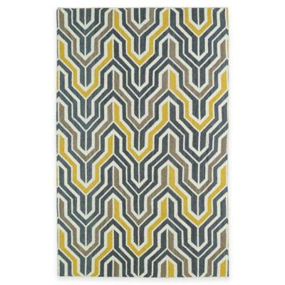 Kaleen Glam Deco 5-Foot x 8-Foot Area Rug in Yellow