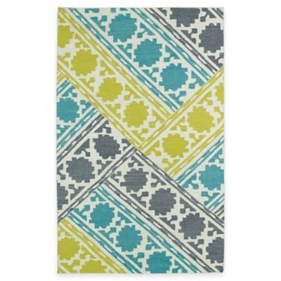Kaleen Glam Basketweave 8-Foot x 10-Foot Area Rug in Turquoise