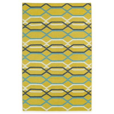 Kaleen Glam Links 5-Foot x 8-Foot Area Rug in Yellow