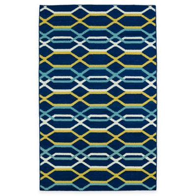 Kaleen Glam Links 5-Foot x 8-Foot Area Rug in Navy