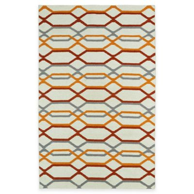 Kaleen Glam Links 8-Foot x 10-Foot Area Rug in Ivory