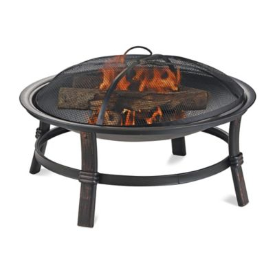 UniFlame® Endless Summer® Wood Burning Outdoor Fire Pit in Brushed Copper
