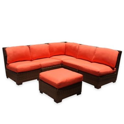 Panama Jack St. Barth's 6-Piece Sectional Set in Orange