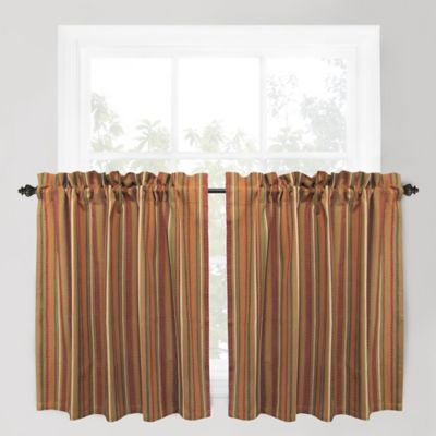 Park B. Smith Raynier 24-Inch Window Curtain Tier Pair in Tuscany