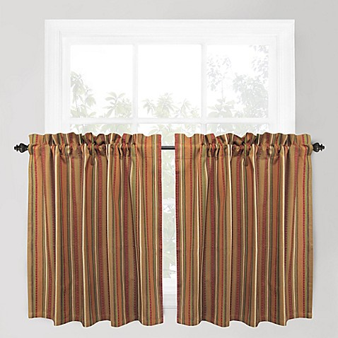Buy Park B Smith Raynier 36 Inch Window Curtain Tier Pair In Tuscany From Bed Bath Beyond