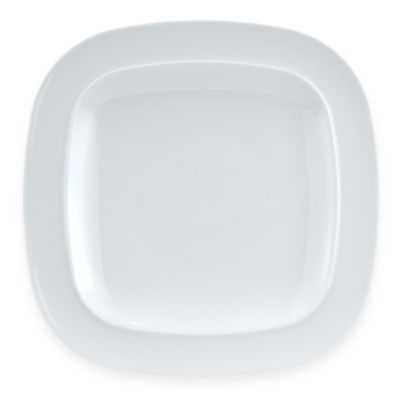 Denby White Square 11 1/2-Inch Dinner Plate