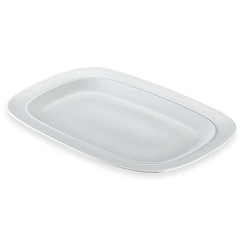 Denby Square 10 1/2-Inch x 16-Inch Platter in White