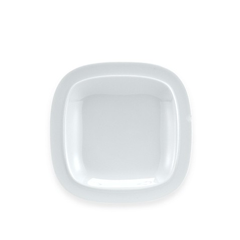 Denby Square Tea Plate in White
