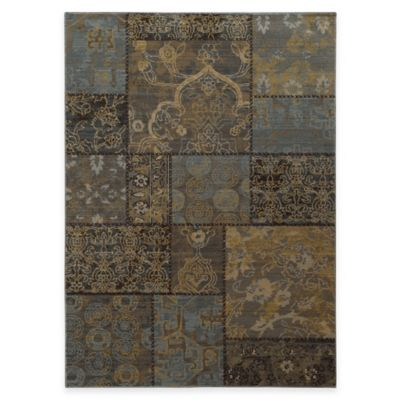 Oriental Weavers Heritage Geometric 2-Foot 7-Inch x 9-Foot 4-Inch Runner in Charcoal