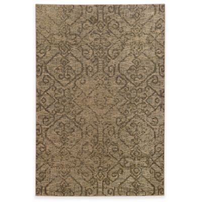Oriental Weavers Heritage Tribal Geometric 5-Foot 3-Inch x 7-Foot 6-Inch Rug in Beige