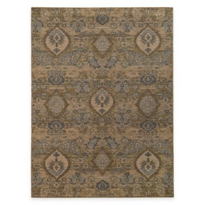 Oriental Weavers Heritage Floral Ikat 1-Foot 10-Inch x 3-Foot 3-Inch Accent Rug in Ivory/Blue