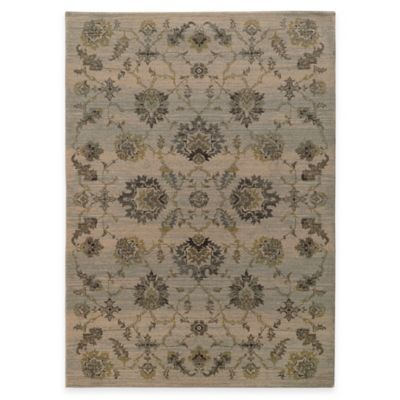 Oriental Weavers Heritage Traditional Floral 3-Foot 10-Inch x 5-Foot 5-Inch Area Rug in Ivory
