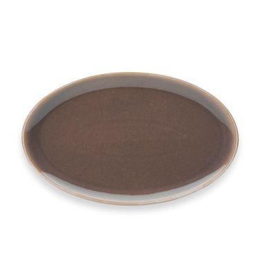 Denby Truffle 16-Inch Oval Platter