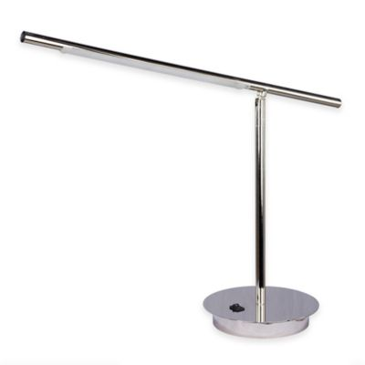 Fangio Lighting Metal LED Table Lamp in Satin Chrome