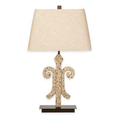 Bassett Mirror Company Augusta Table Lamp in Cream