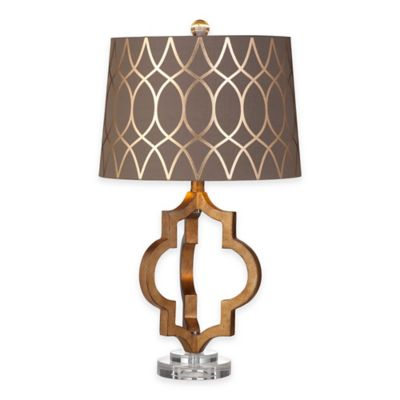 Bassett Mirror Company Coburg Table Lamp in Gold Leaf