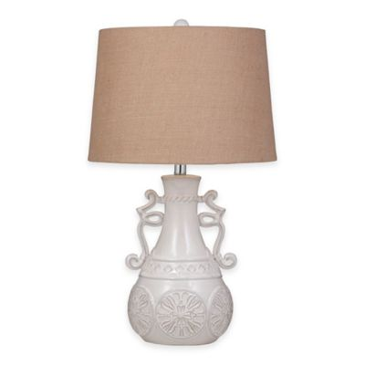 Bassett Mirror Company Weston Table Lamp in Off-White