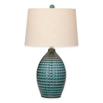 Bassett Mirror Company Hurst Table Lamp in Aqua Blue