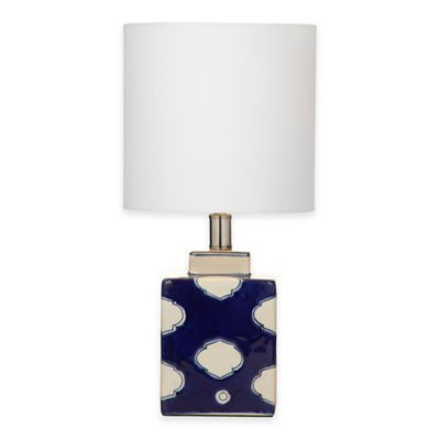 Bassett Mirror Company Carmi Table Lamp in Navy/White