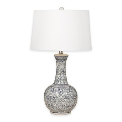 Bassett Mirror Company Thoroughly Modern Trenton Table Lamp in Royal Blue
