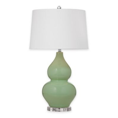 Bassett Mirror Company Eagan Table Lamp in Green/Grey