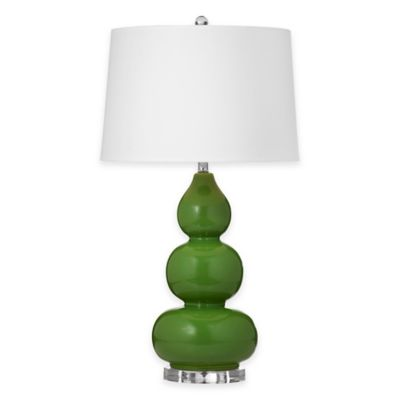 Bassett Mirror Company Old World Benson Table Lamp in Green/Grey