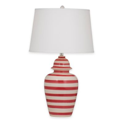 Bassett Mirror Company Porter Table Lamp in Red/White