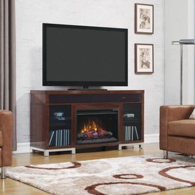 Bell'o® Roxbury 59.5-Inch Electric Fireplace Media Console in Gloss Cherry