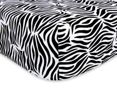 Trend Lab® Black and White Zebra Fitted Sheet
