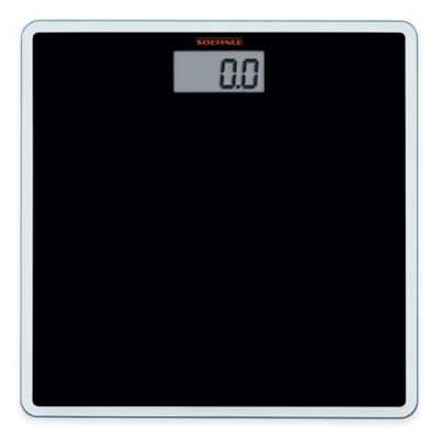 Soehnle Slim Design Digital Bathroom Scale in Black