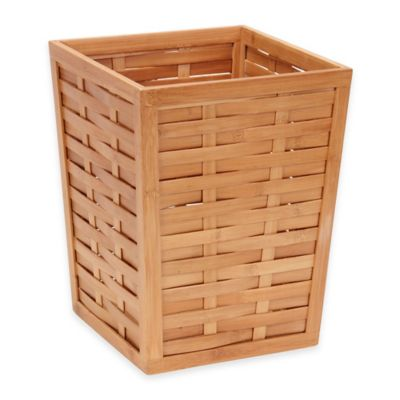 Household Essentials Bamboo 4-Gallon Trash Can