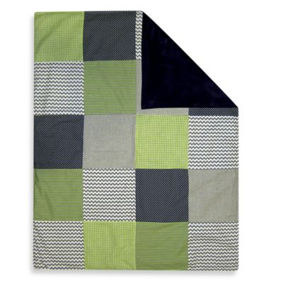 Trend Lab® Perfectly Preppy 2-Layer Receiving Blanket