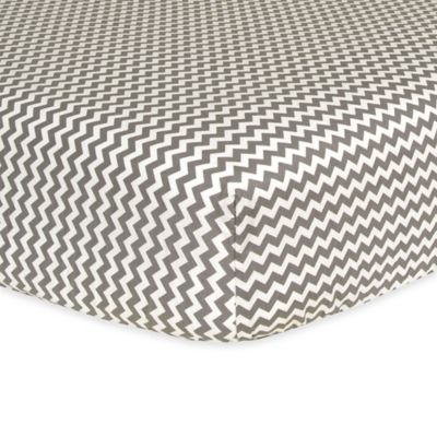 Trend Lab® Ombre Chevron Fitted Crib Sheet in Grey