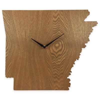 Arkansas State Wood Grain Wall Clock