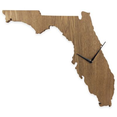Florida State Wood Grain Wall Clock