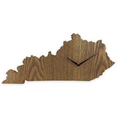 Kentucky State Wood Grain Wall Clock