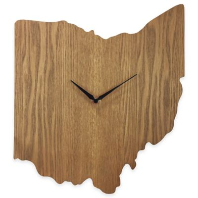 Ohio State Wood Grain Wall Clock