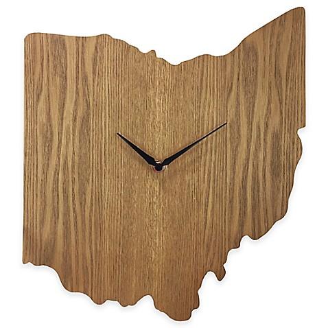 Ohio State Wood Grain Wall Clock Www Bedbathandbeyond Com