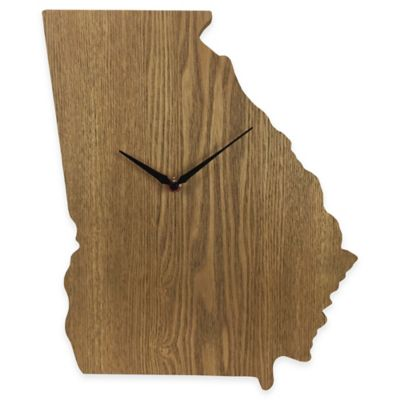 Georgia State Wood Grain Wall Clock