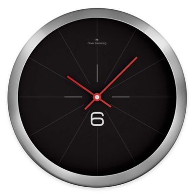 "Oliver Hemming Duplex ""6"" Wall Clock in Black/Chrome"